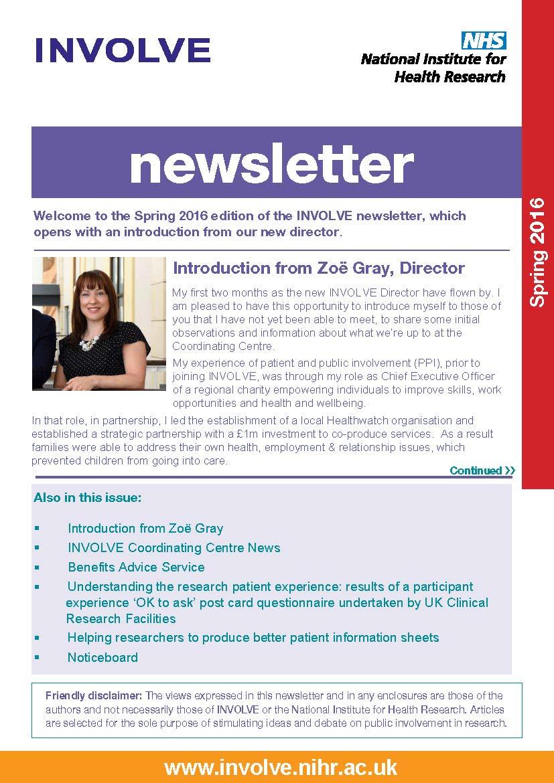 Involve Newsletters Involve